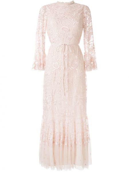 Вечернее платье с цветочным принтом расклешенное Needle & Thread