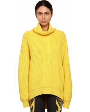 Żółty sweter wełniany oversize Givenchy