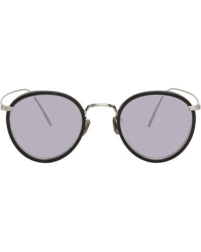 Czarne okulary skorzane Eyevan 7285