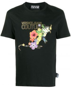Джинсовая рубашка с короткими рукавами прямая Versace Jeans Couture