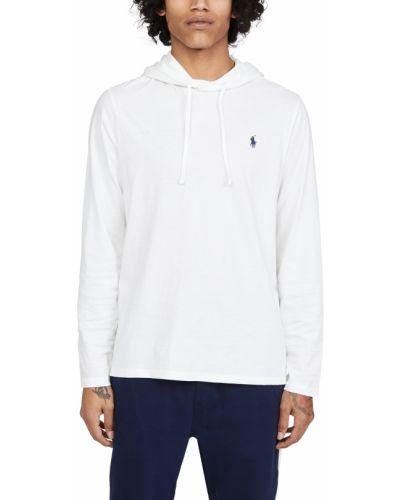 Белая футболка с длинными рукавами с капюшоном Polo Ralph Lauren