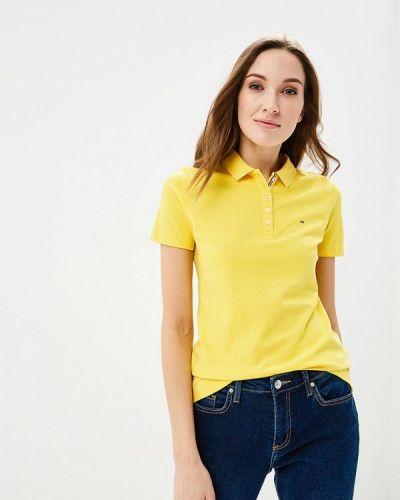 Желтое поло Tommy Jeans