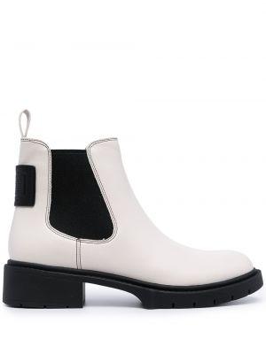 Кожаные ботинки челси - белые Coach