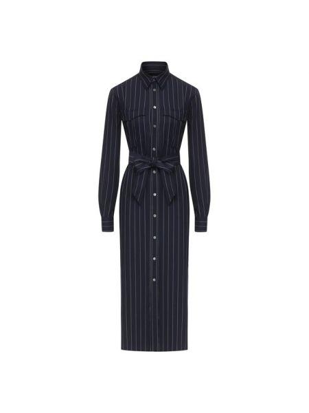 Вечернее платье с поясом платье-рубашка Polo Ralph Lauren