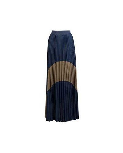 Плиссированная юбка макси синяя Patrizia Pepe