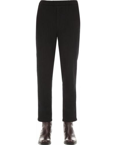 Czarne spodnie wełniane Rochas