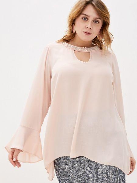 Блузка розовая осенняя Evans
