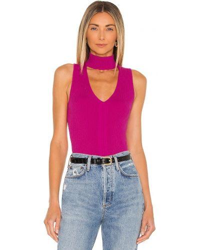 Koszulka prążkowana - fioletowa Bailey 44