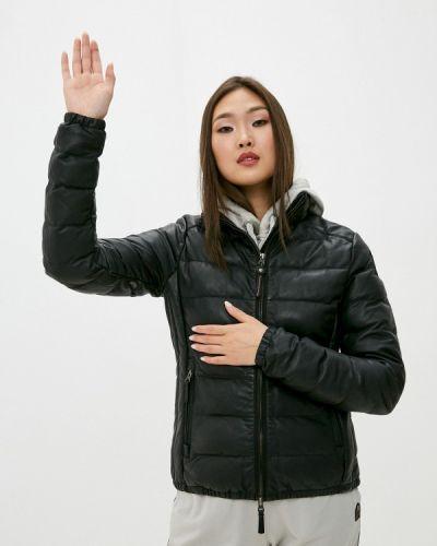 Кожаная черная куртка Parajumpers