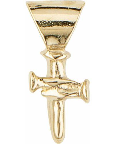 Золотистый крест золотой с декоративной отделкой Unode50