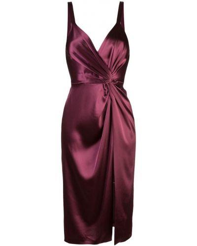 Платье миди с V-образным вырезом со складками Jill Jill Stuart