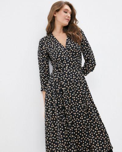 Черное платье на запах Shartrez