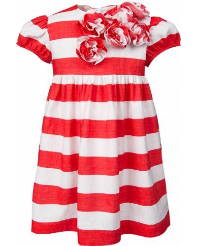 Хлопковое платье - красное Il Gufo