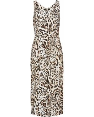 Платье миди на пуговицах леопардовое Bonprix