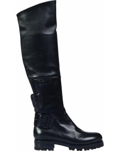 Ботфорты на каблуке кожаные черные Nando Muzi