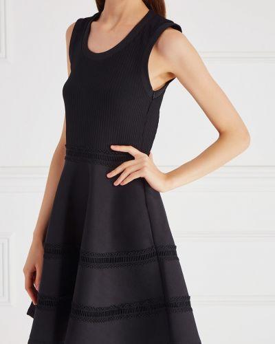 Платье в полоску в рубчик Carven