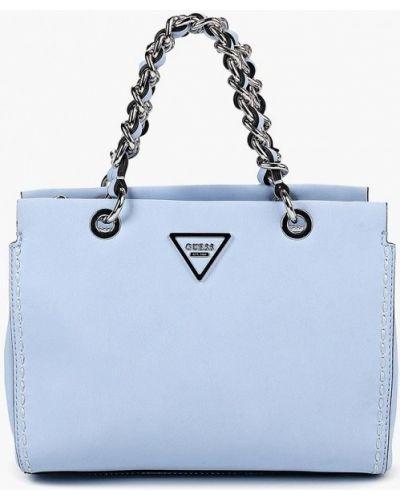 Голубая сумка Guess