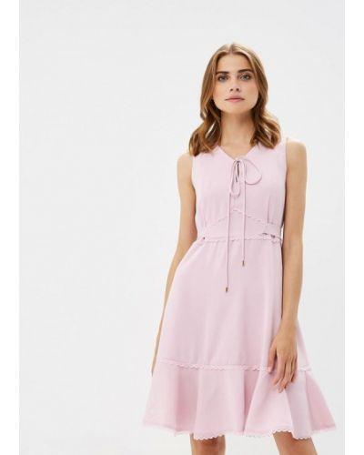 Платье розовое осеннее Lusio