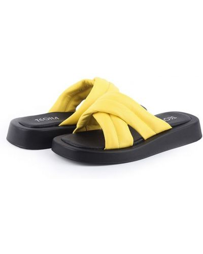 Шлепанцы - желтые Teona