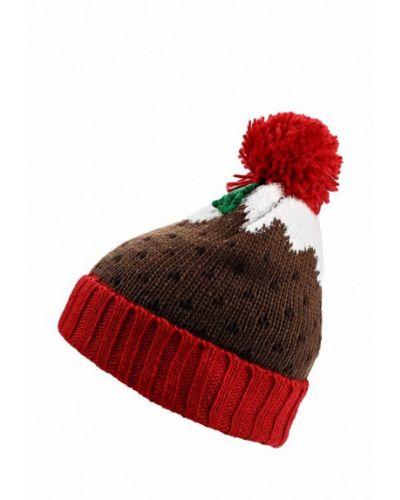 Коричневая шапка с помпоном Marks & Spencer