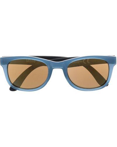 Синие солнцезащитные очки прямоугольные Molo