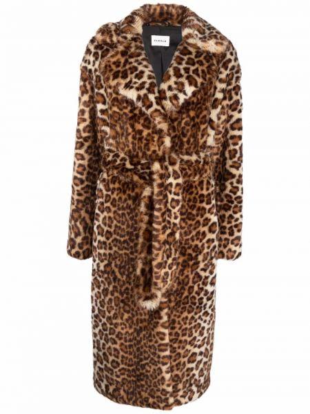 Коричневое пальто из вискозы P.a.r.o.s.h.