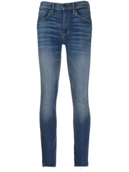 Зауженные джинсы с завышенной талией - синие 3x1
