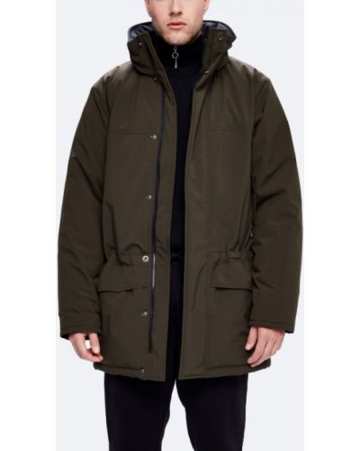 Утепленная куртка длинная зеленая Kanuk