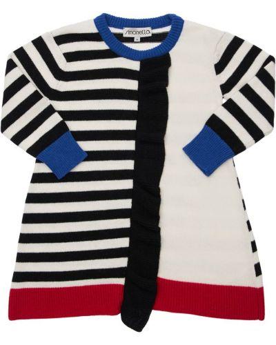 Шерстяное платье макси - черное Simonetta