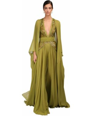 Платье макси с пайетками с вышивкой Elie Saab
