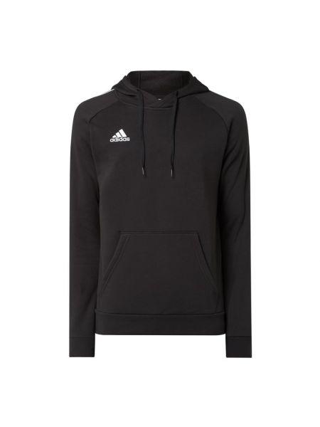 Bawełna czarny bluzka z raglanowymi rękawami z kieszeniami Adidas