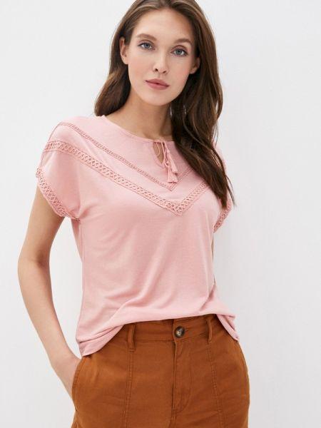 Розовая блузка с коротким рукавом с короткими рукавами Defacto