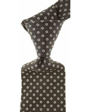 Beżowy krawat z jedwabiu Borrelli