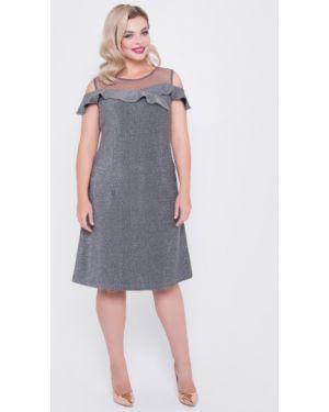 Вечернее платье серое в горошек тм леди агата