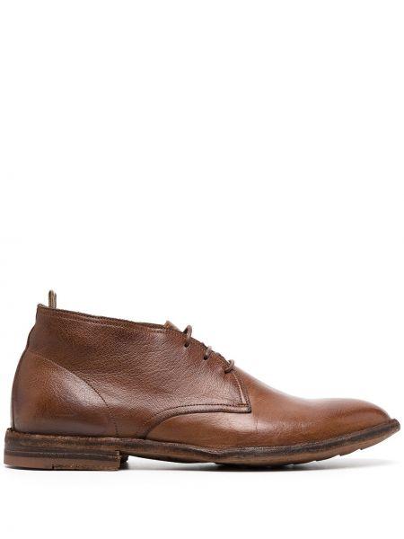 Skórzany buty obcasy na pięcie zasznurować Officine Creative