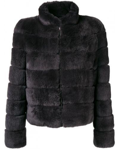 Куртка на молнии серая Cara Mila