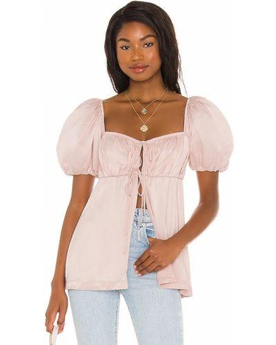 Satynowa koszulka - różowa Lpa
