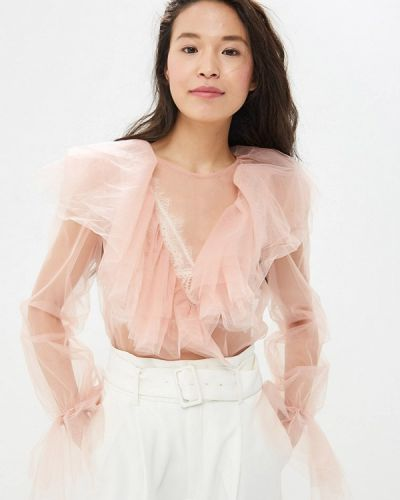 Блузка розовая с рюшами Gepur