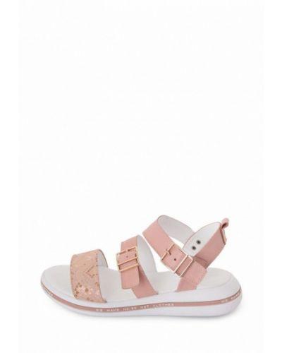 Кожаные сандалии - розовые Milli Gold