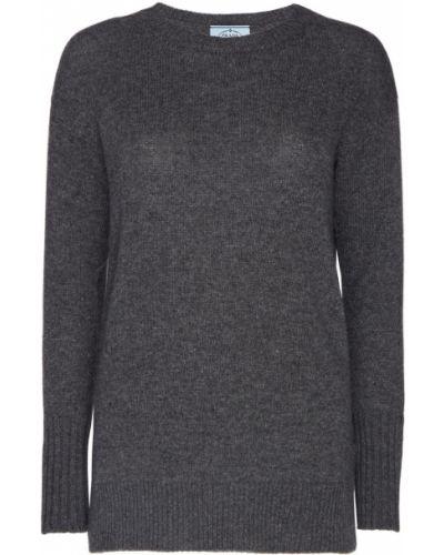 Серый свитер оверсайз Prada