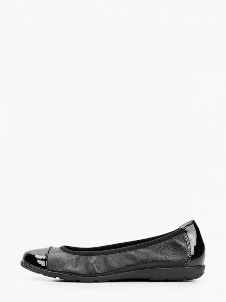 Балетки черные кожаные Caprice
