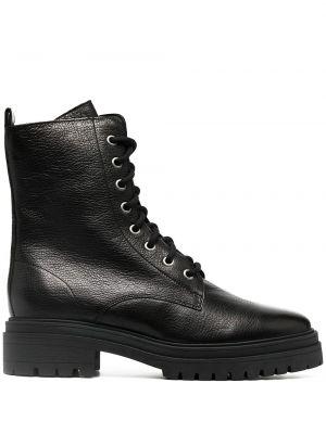 Черные кожаные ботинки на шнуровке Ba&sh
