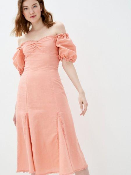 Платье розовое с открытыми плечами True Decadence