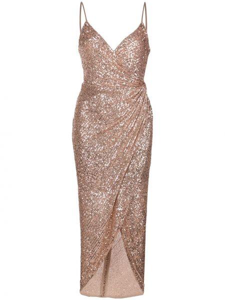 Тонкое платье миди с вышивкой на бретелях на молнии Shona Joy