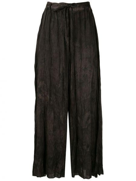 Коричневые брюки с карманами свободного кроя Masnada