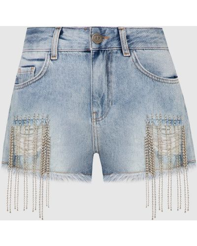 Синие джинсовые шорты Twin-set