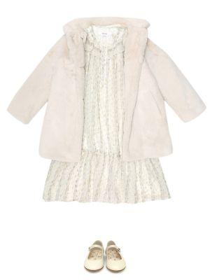 Шелковое платье - белое Bonpoint