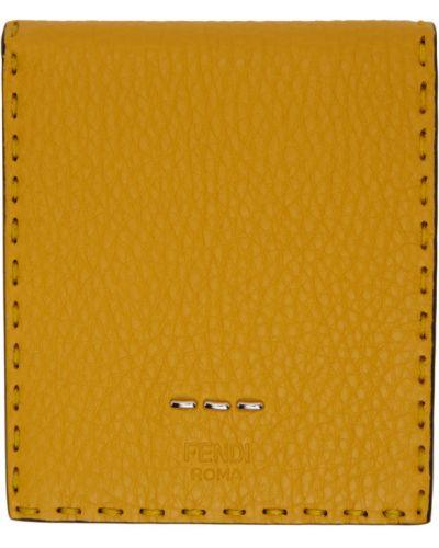 Черный кожаный кошелек с тиснением Fendi