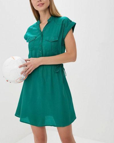 Зеленое платье рубашка Incity