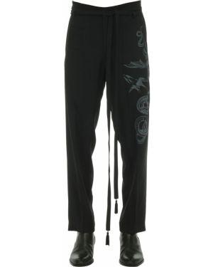 Satynowe czarne spodnie z paskiem Triple Rrr